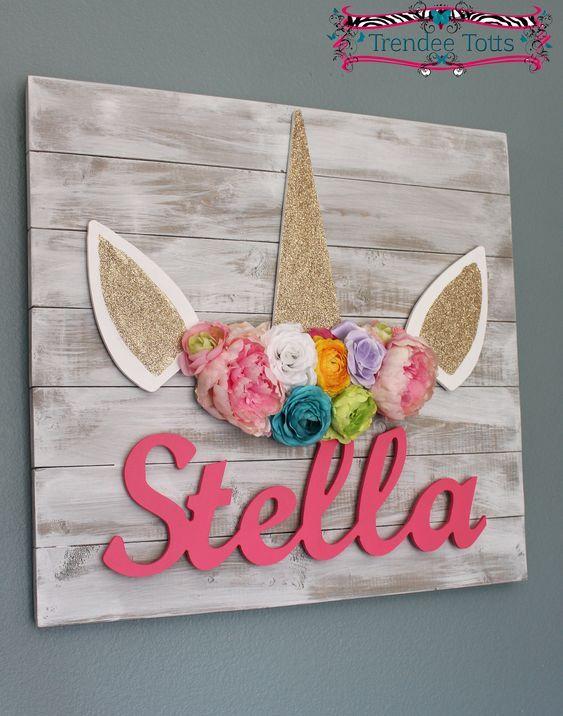 Photo of Unicorn themed letters, Unicorn Nursery, Gold glitter unicorn, Unicorn nursery decor, Unicorn decor, Floral unicorn, Shabby chic unicorn