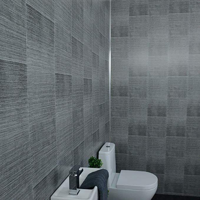 claddtech grey bathroom panels splashbacks  large tile