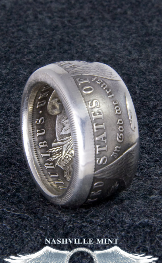 CoinRing 1883 Silver US Dollar Coin Ring Sizes 10