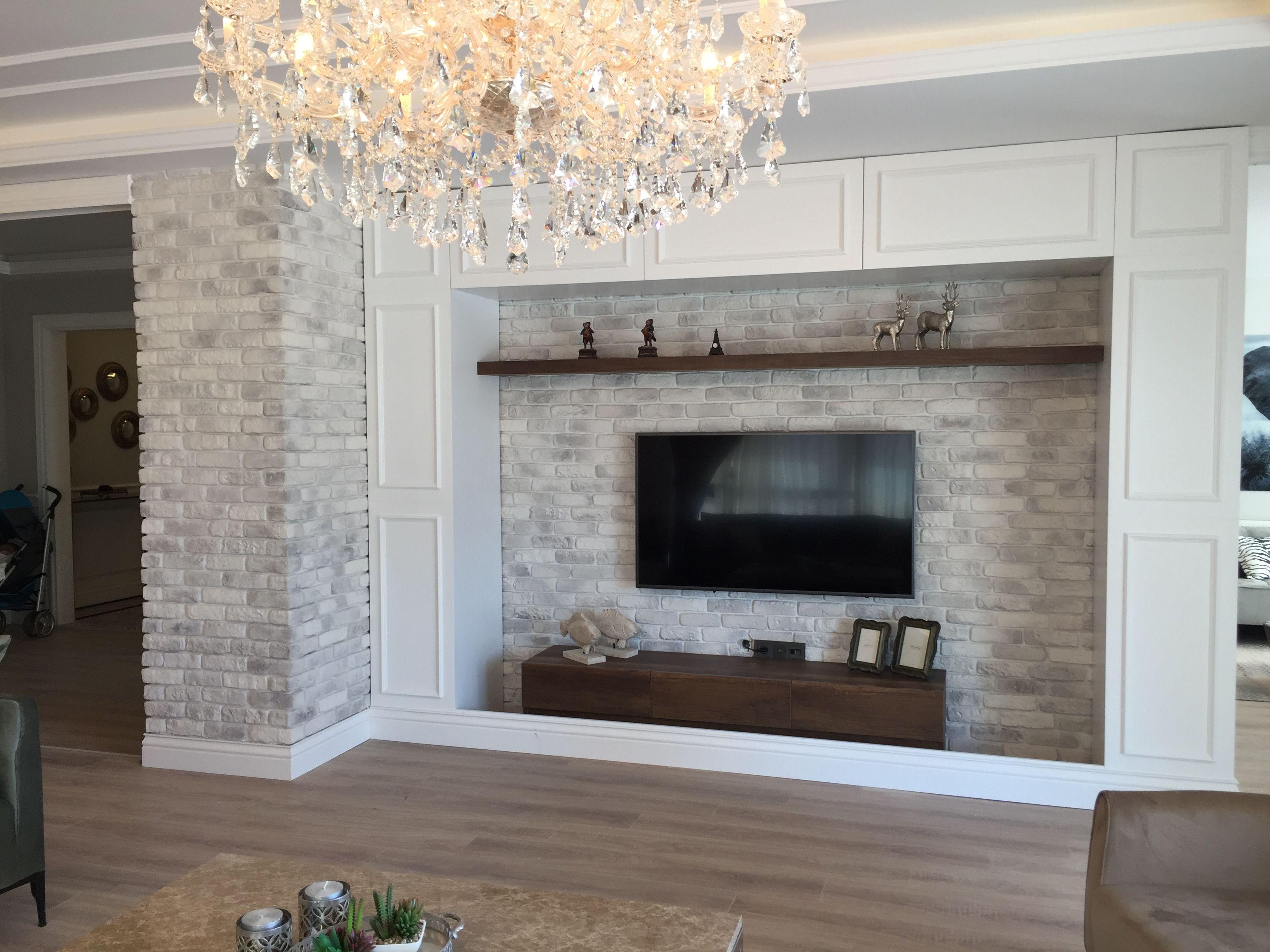 kuhle dekoration tv natursteinwand, taş duvar tasarım tv ünitesi | ev dekorasyon/ home desing, Innenarchitektur
