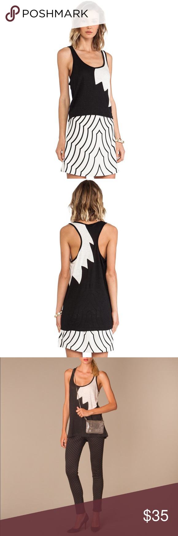 Marc by Marc Jacobs Carmen flame racerback tank! Bold, angled seams create the look of flames on this Marc by Marc Jacobs tank. Loose-cut silhouette with racerback. Whip stitched hem. Fabric: slubbed linen jersey, 100% linen. Worn once, perfect condition! Marc by Marc Jacobs Tops Tank Tops