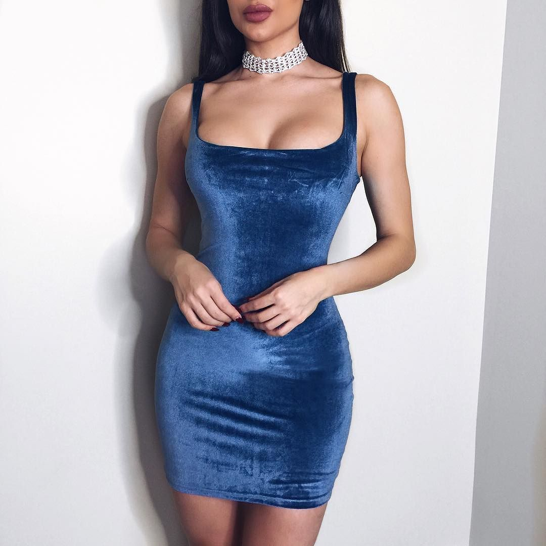 c68dfba73feb DORINNE Square Neck Velvet Mini Dress // just landed in TEAL GOLD. Shop:  emprada.com