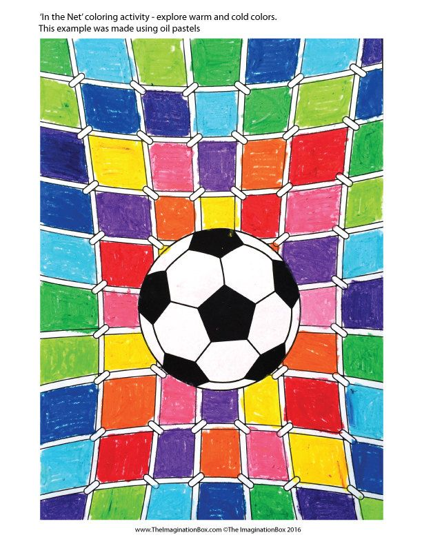 Kids Euro 2016 Soccer Football art and craft activity pack - foot ball square template