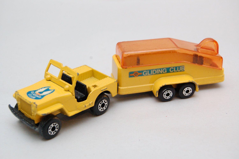 4x4 car toys  Matchbox Superfast Jeep u Trailer Gliding Club  Lesney