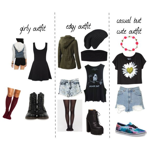 girly,edgy, and casual but cute outfit ideas | Cute edgy