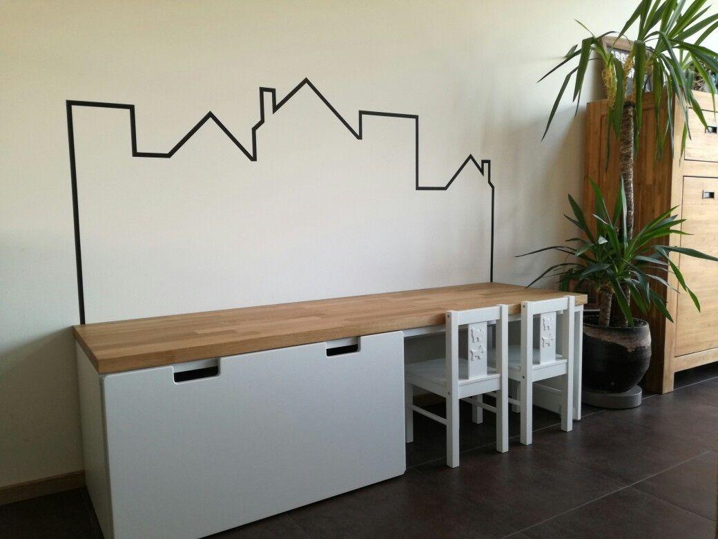 Ikea #stuva #speelhoek #peuter #washitape #huisjes interieur