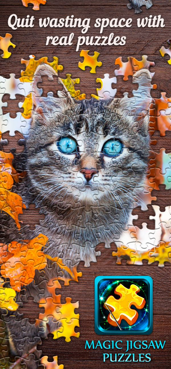 No more lost puzzle pieces! Download Magic Jigsaw Puzzles