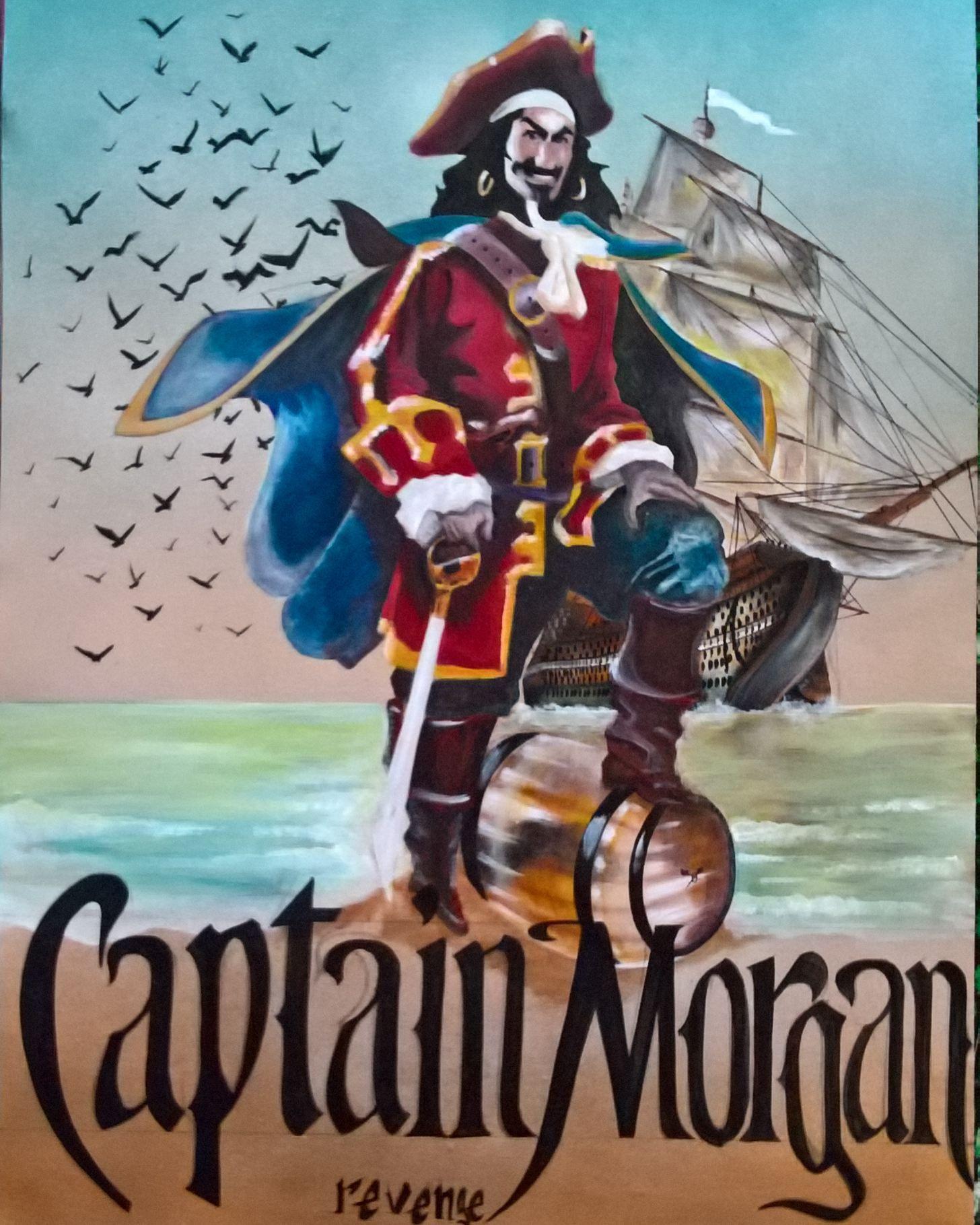Captain Morgan Revenge Painting Maestro Art Painting Anime