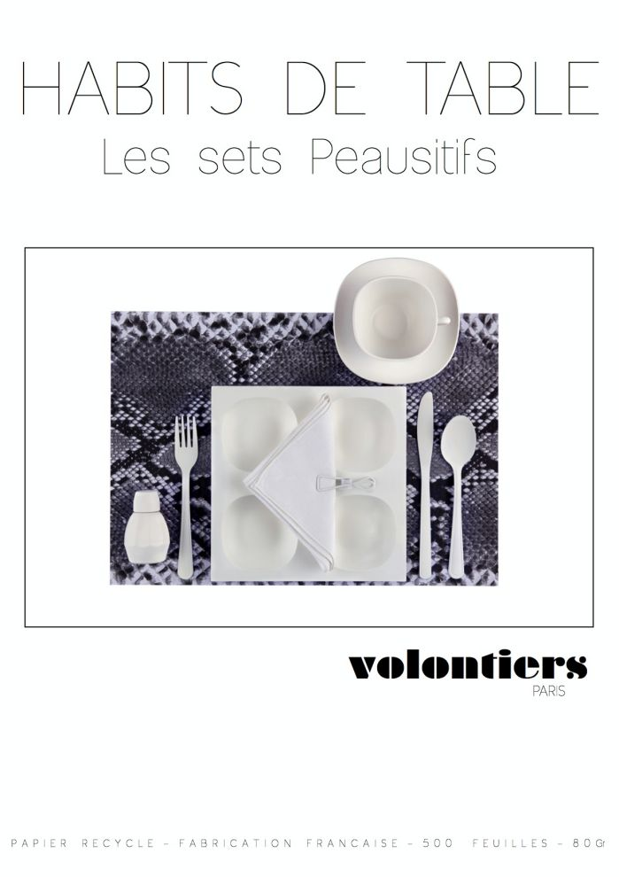 Habits de table VOLONTIERS Peausitifs - pollypapierleblog