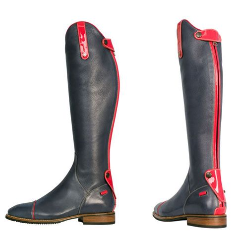 De Niro Riding Boots - Navy Caprice Soft Leather Riding Boots ...
