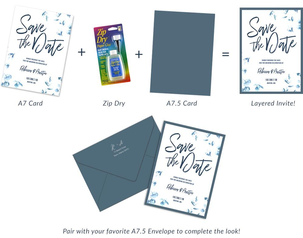 Make Easy Layered 5x7 Invites With New A7 5 Diy Wedding