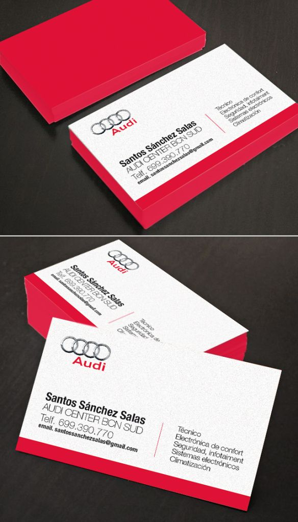 Business card for AUDI Design by http://santosanchez.wordpress.com ...