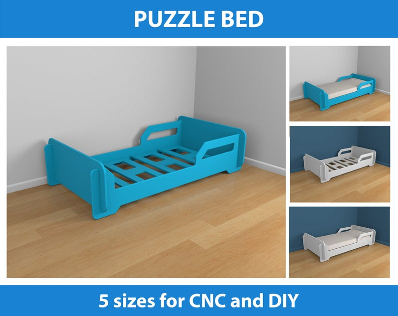 Bed Plans for CNC and DIY 5 different sizes in 2020