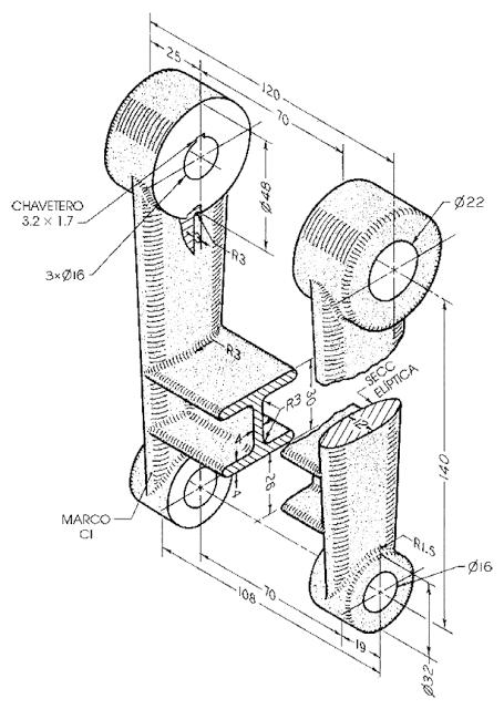 Autocad Para Todos 100 Practico Proyecto 1 Cinturon Ajustador Marco Dibujo Mecanico Vistas Dibujo Tecnico Dibujo Tecnico Industrial