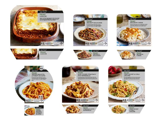 Tesco Finest Italian Ready Meals | packagings inspirations