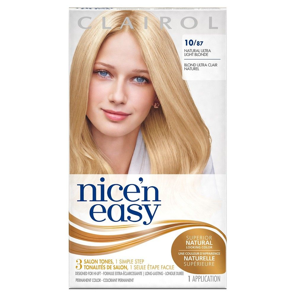 Clairol Nice N Easy Hair Color Ultra Light Natural Blonde Ultra