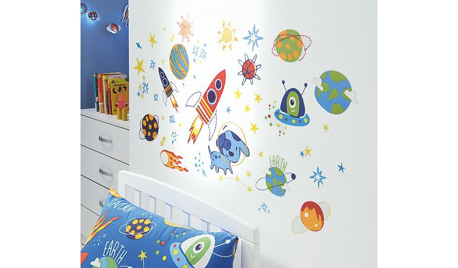 George Home Space Dog Wall Stickers Read Reviews And Buy Online At