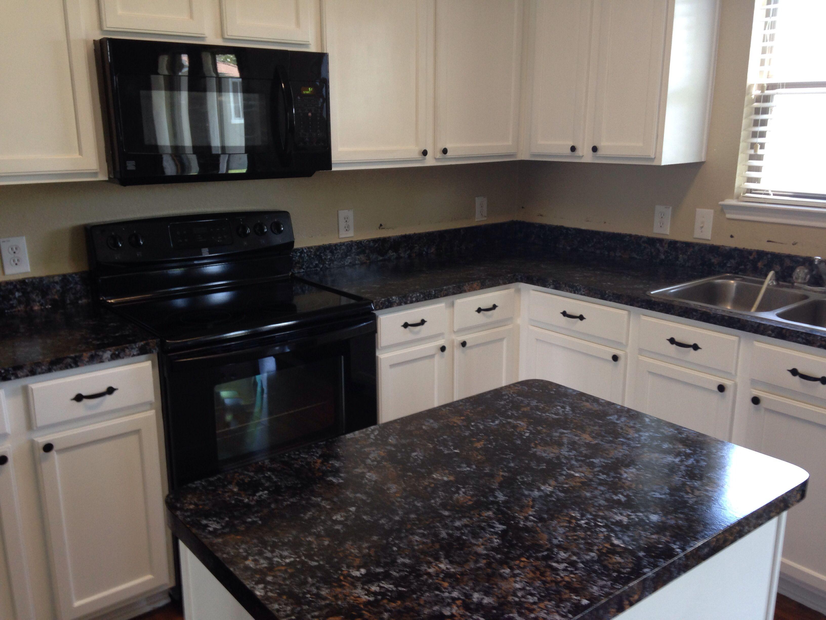 Giani Bombay Black Granite Kitchen Remodel Countertop Kit