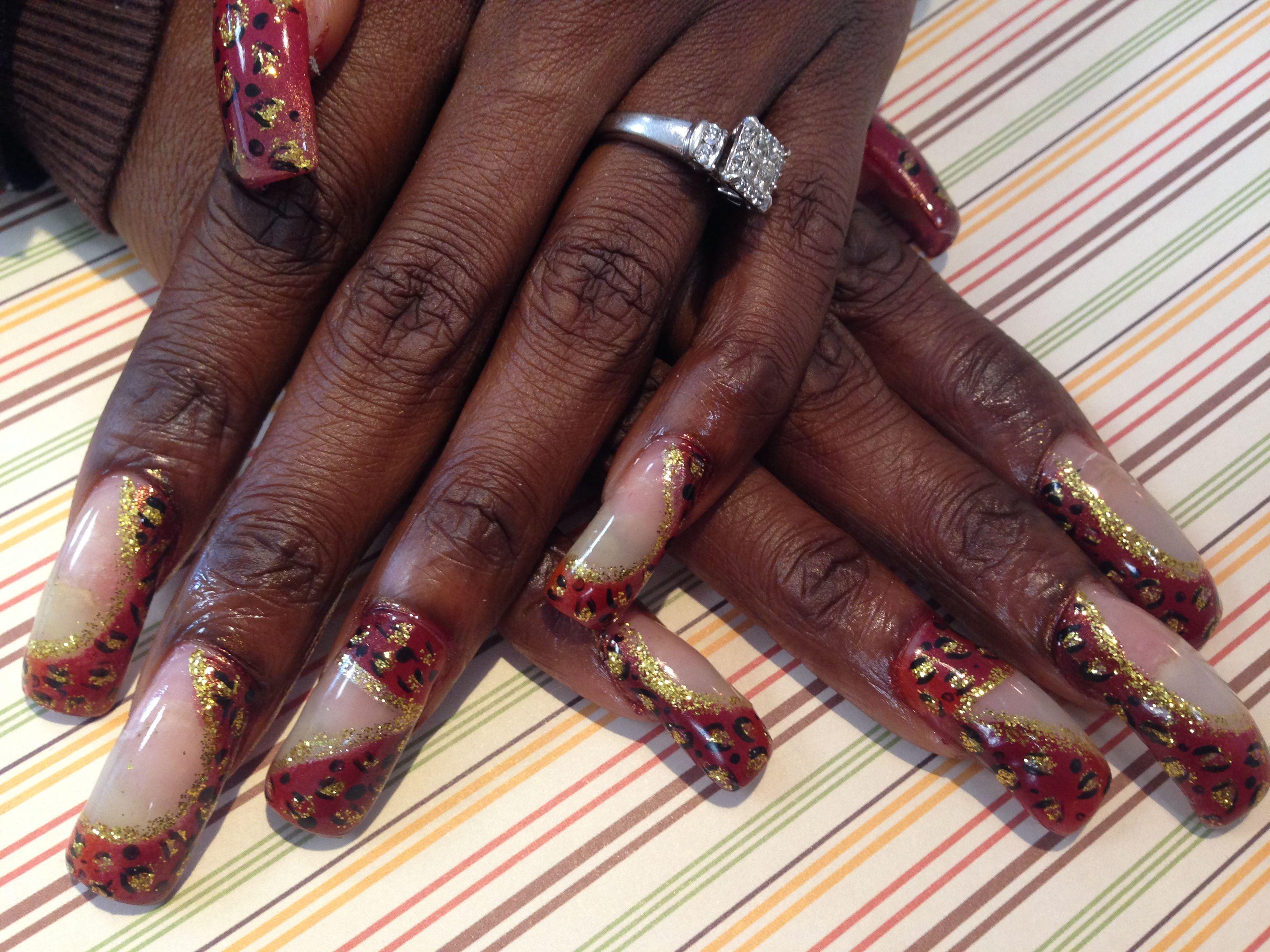 Henna nails   Henna nails, Beautiful nail designs, Nails