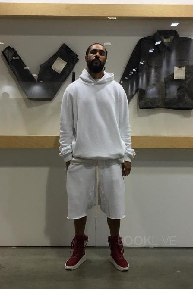 b8917ecc65a4 Jerry Lorenzo wearing Fear of God Military Sneaker