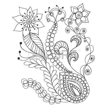 Fantasie Blumen. Hand gezeichnet Doodle. Blumenmuster Vektor ...
