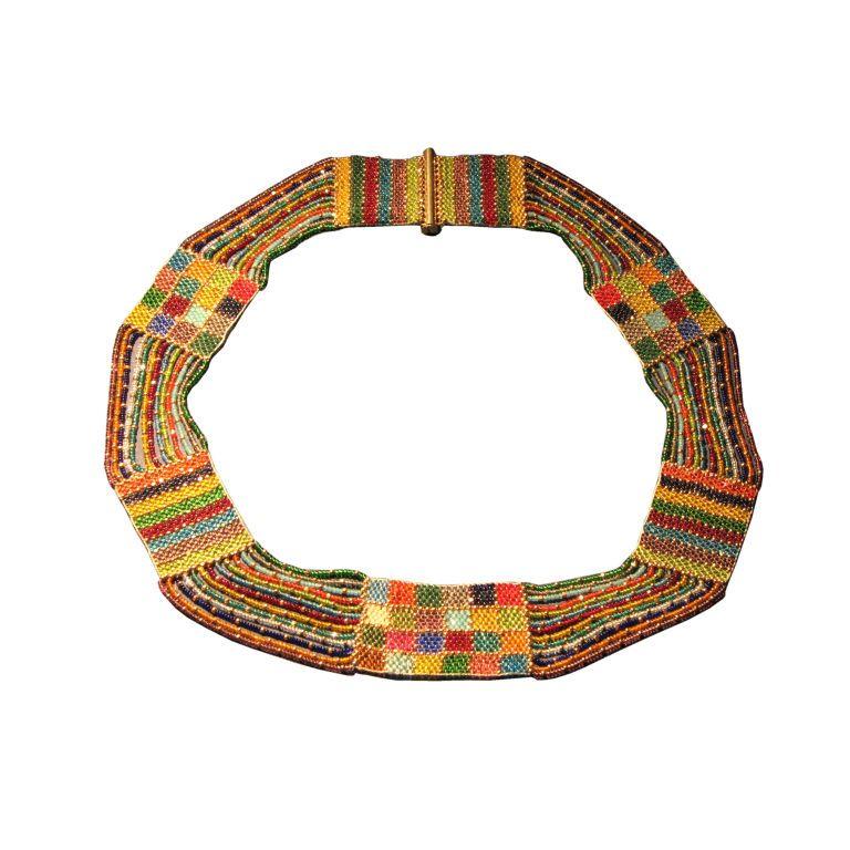 Amalie Szeps for Wiener Werkstatte - Wiener Werkstatte Beaded Necklace - Leah Gordon Antiques