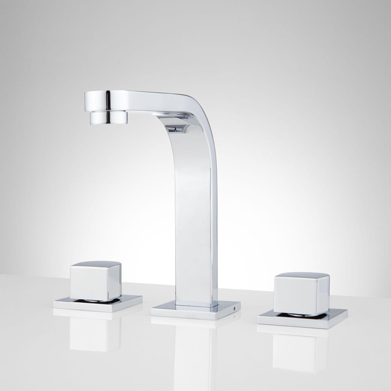 Attias Widespread Bathroom Faucet Width 8 Height 7 1 4 To Spout 6 3 Reach Base Plate Length 2