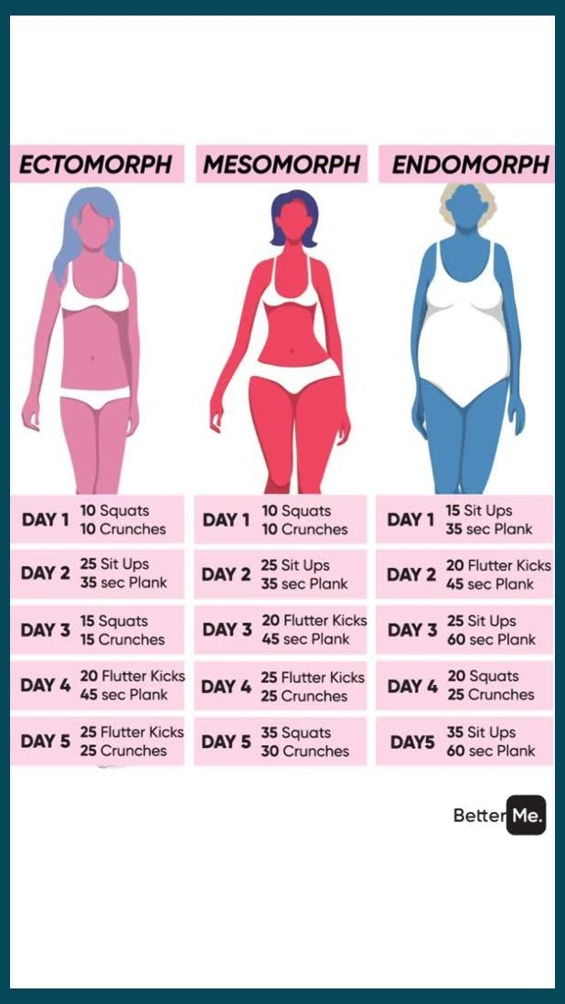 workout and diet plans for a ectomorph female