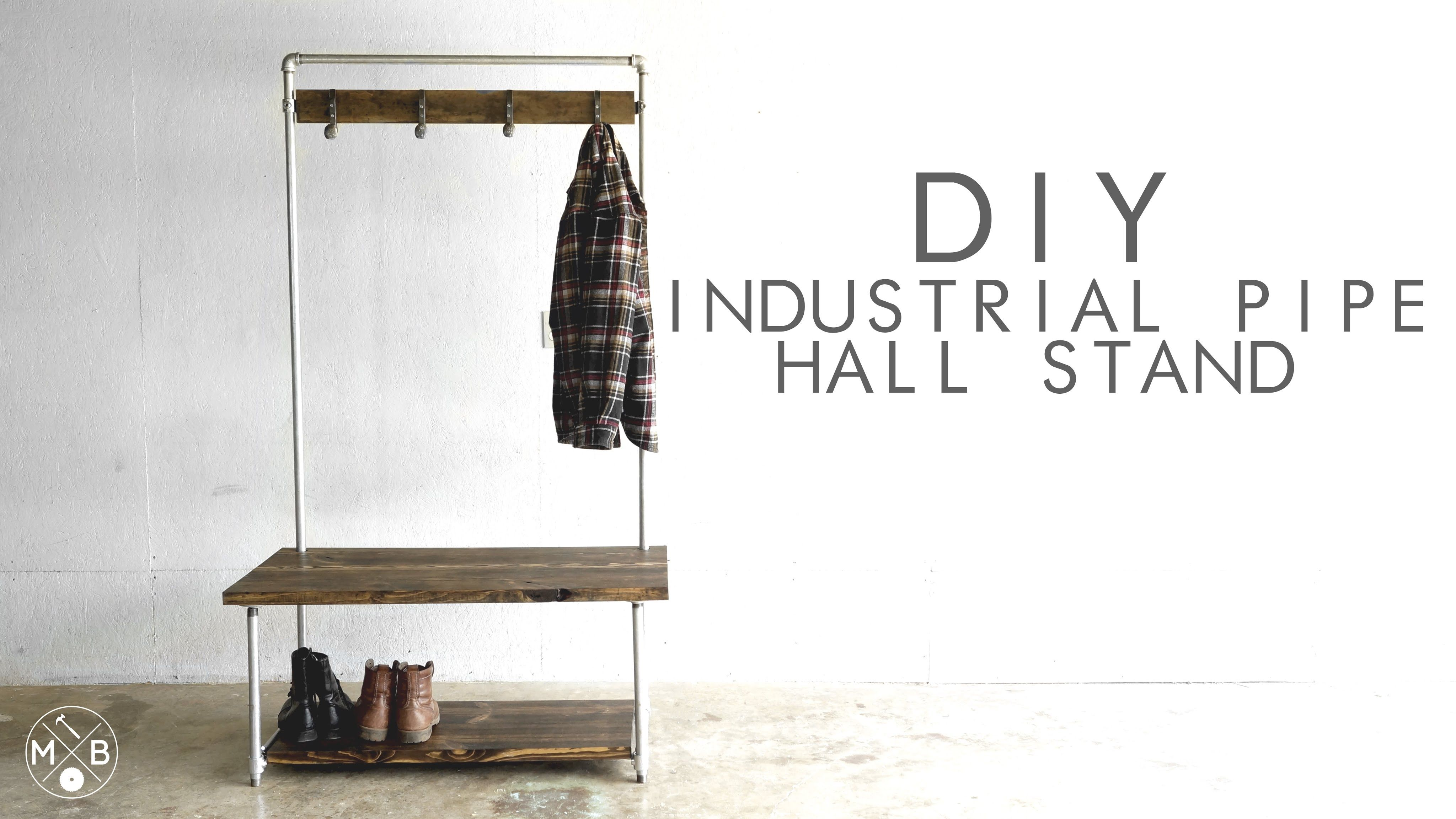 DIY Industrial Pipe Hall Stand