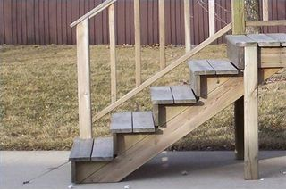 How To Build A Four Step Porch For A Mobile Home In 2019 Porch