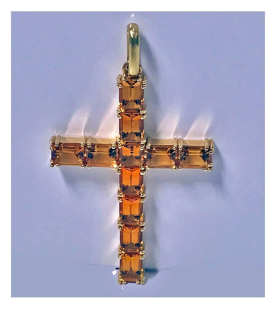 Core Gold 14k Reversible Crucifix//Cross Pendant