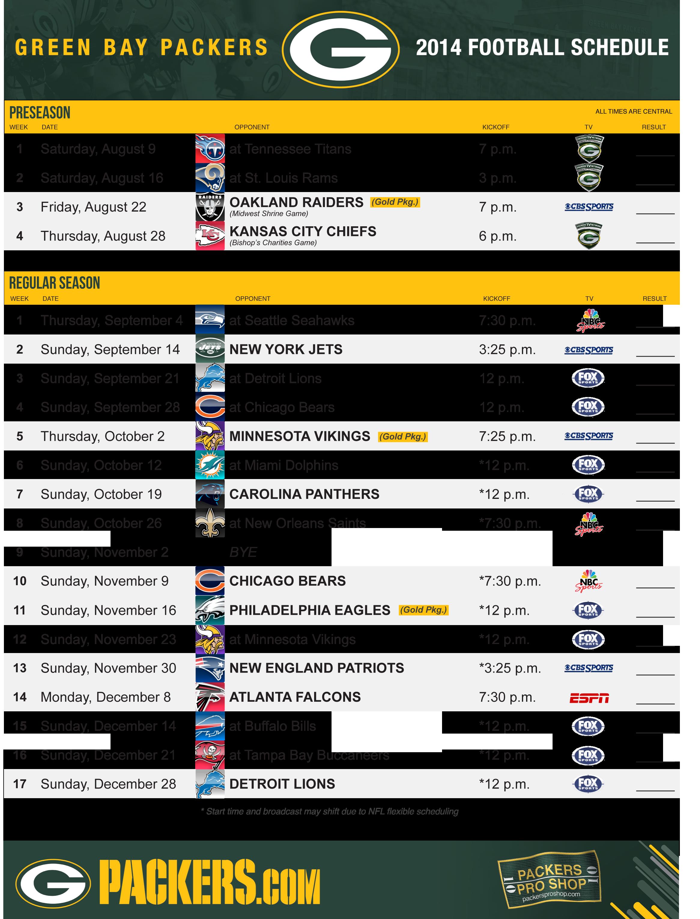 Packers 2014 Schedule Gopackgo Green Bay Packers Green Bay Green Bay Packers Players