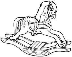rocking horse clip art - Google Search | Horse coloring ...