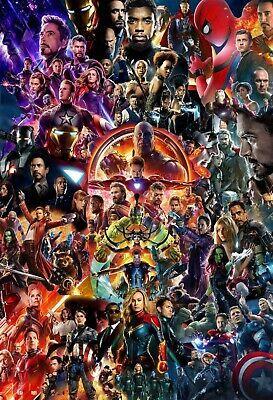 Details about Marvel MCU Movie Collage Poster | Framed Art | Avengers Endgame | NEW | USA