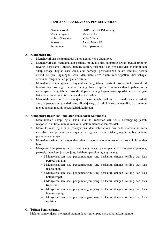 RPP matematika kurikulum 2013 by Novita Tiannata via slideshare