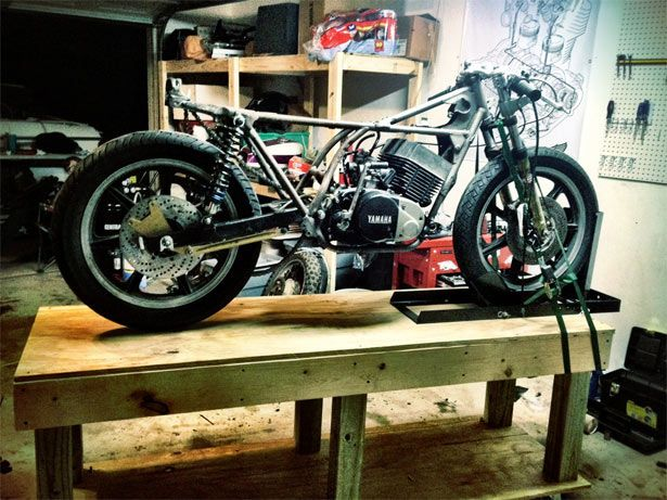 Diy Motorcycle Table By Cafe Matty Motorcycle Shop