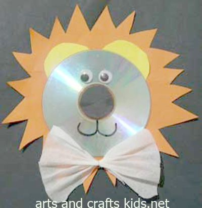 Lion Craft Cd Easy Crafts Ideas For Kids Craft Projects