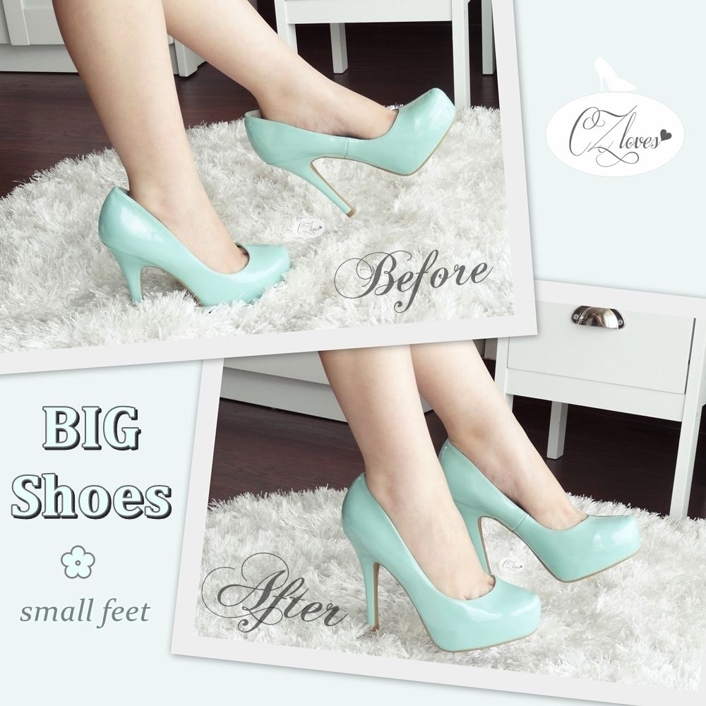 Czloves how to make big shoes fit small feet holy cow i