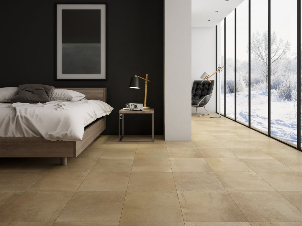 awesome interceramic tile for floor decoration ideas cozy bedroom design using porcelain stoneware matte interceramic tile plus glass windows and cool