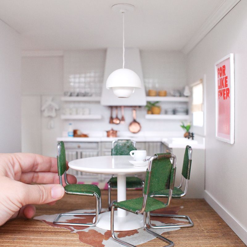 Modern Dollhouse Miniature Kitchen