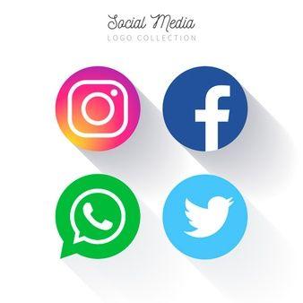 036dec753eb6f Colección de logotipo circular de redes sociales populares ...
