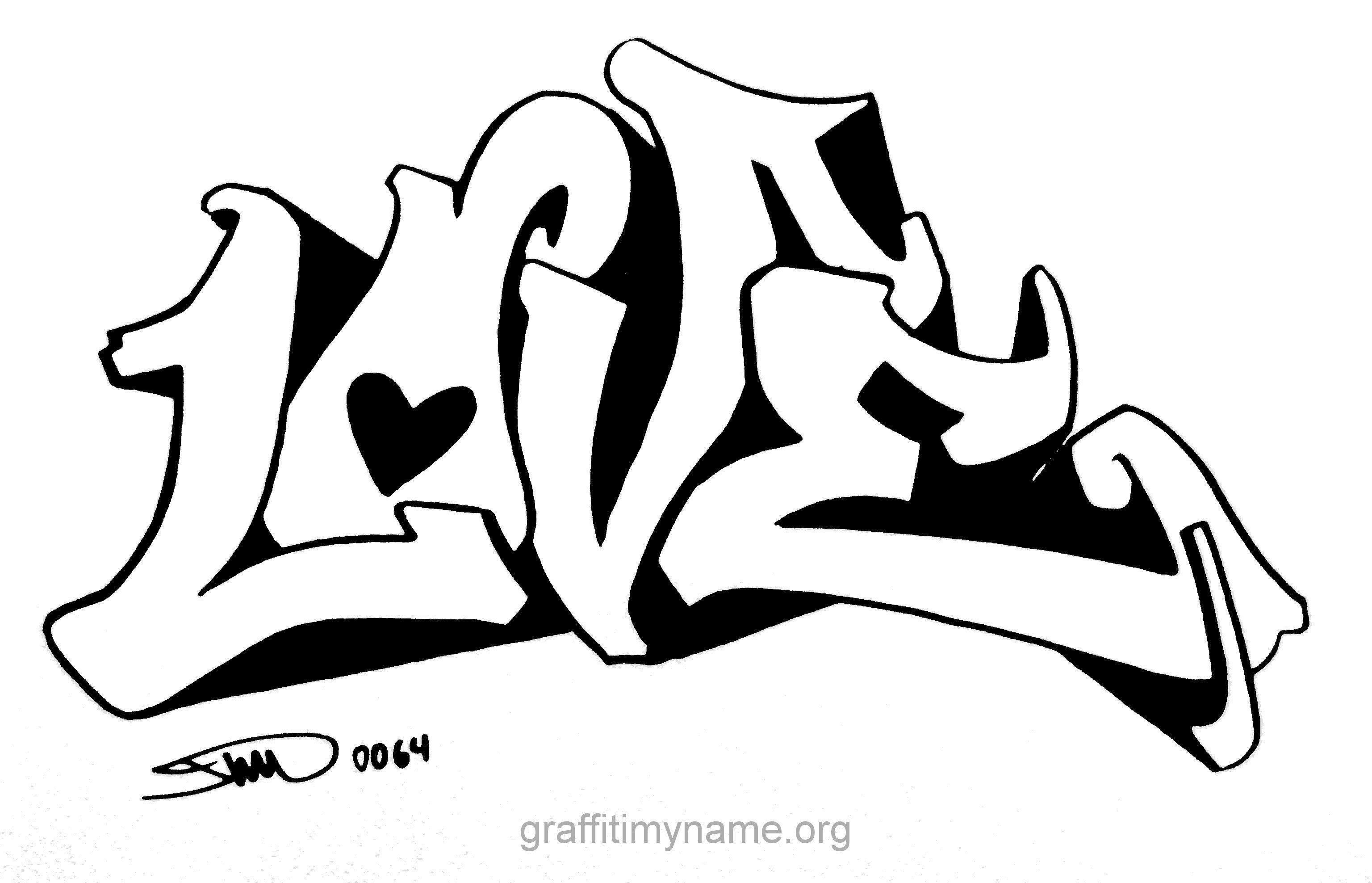Frisch Malvorlagen I Love You Graffiti Malvorlagen Graffiti Schriftart
