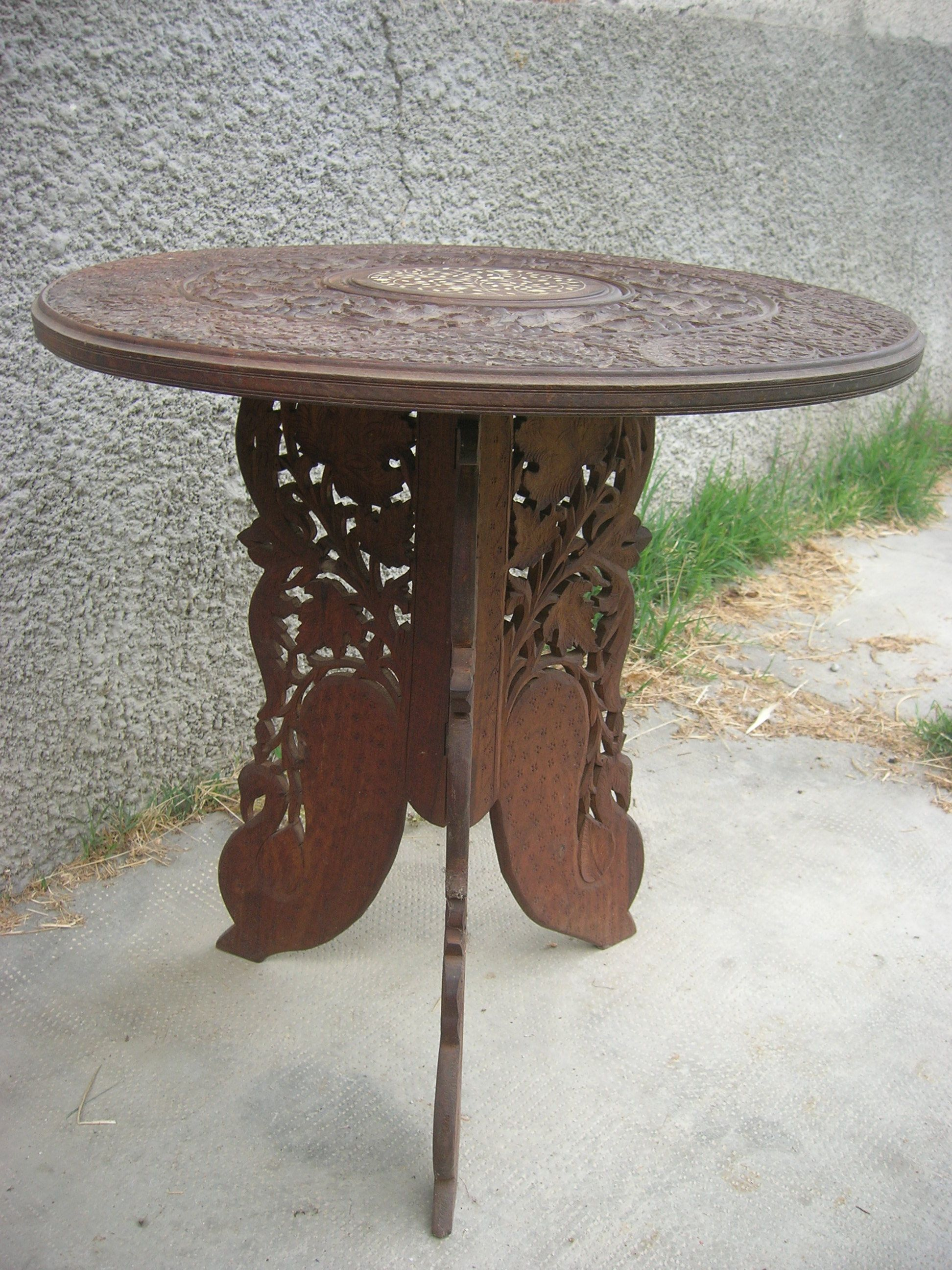 Tavolino etnico ~ Tavolino circolare artigianato etnico africano museo artigianale