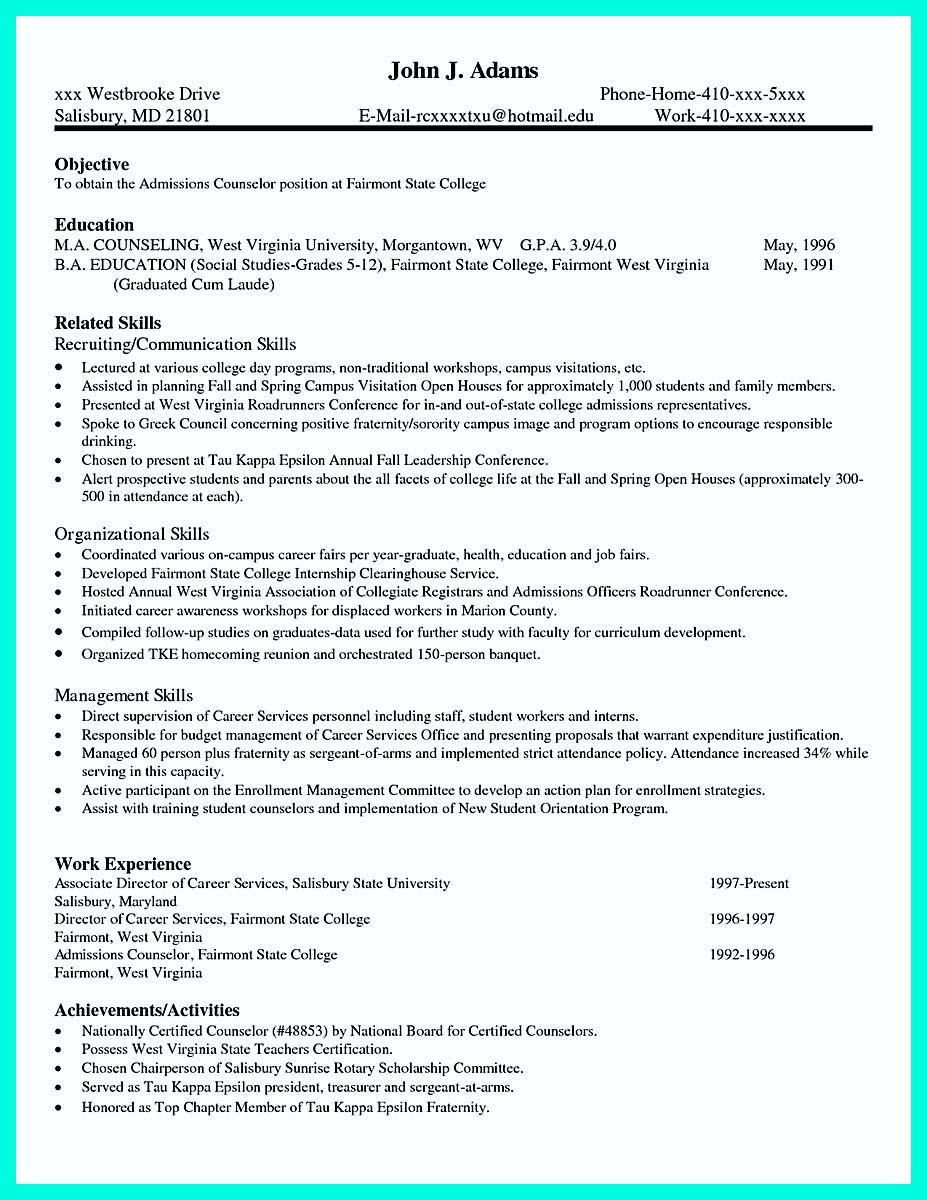 Sephora Resume Cool Write Properly Your Accomplishments In College Application
