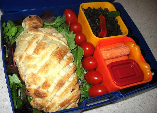 Mummy Calzone Bento (Halloween halloween food ideas   - halloween catering ideas