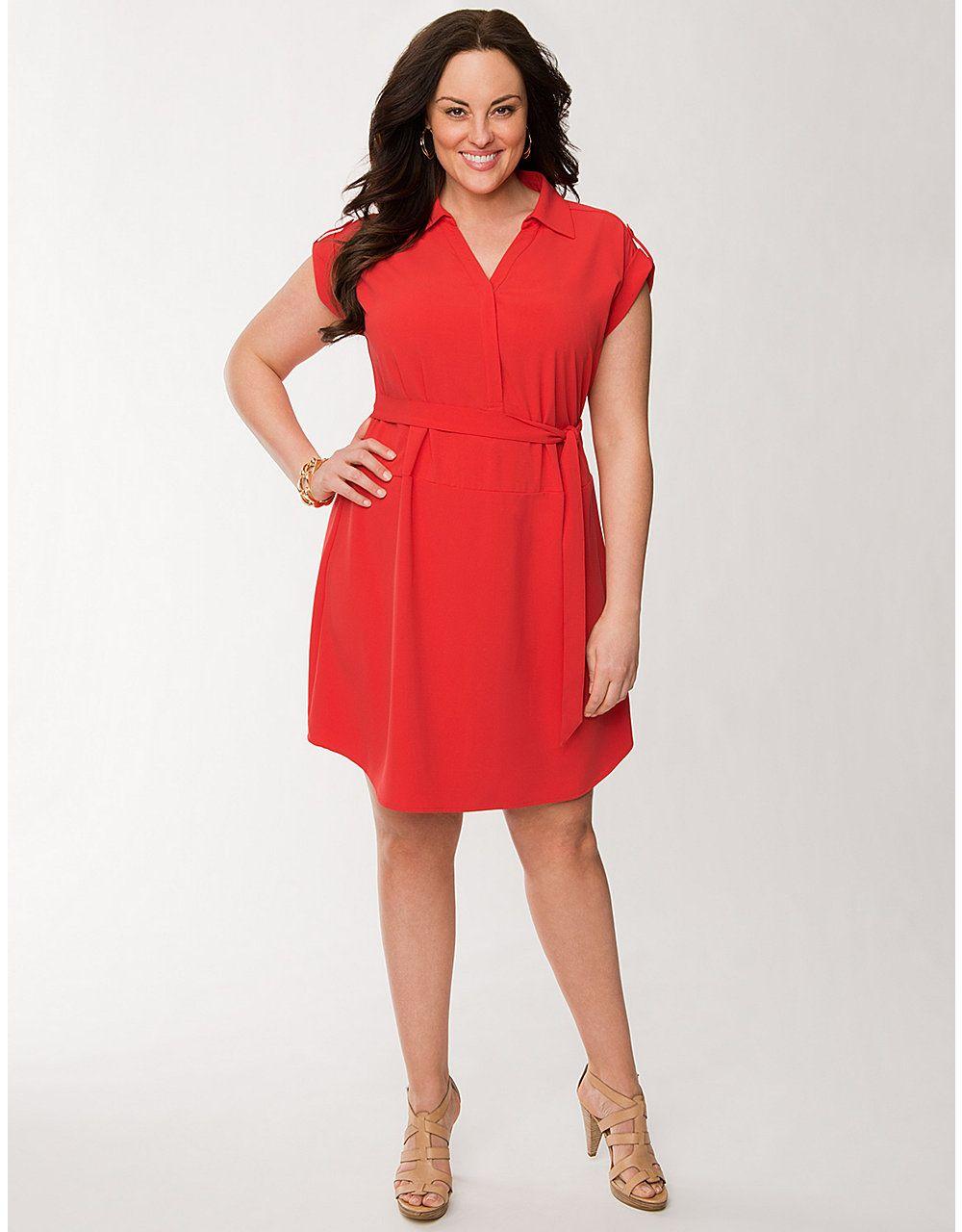 Plus size short sleeve shirt dress by lane bryant lane bryant my