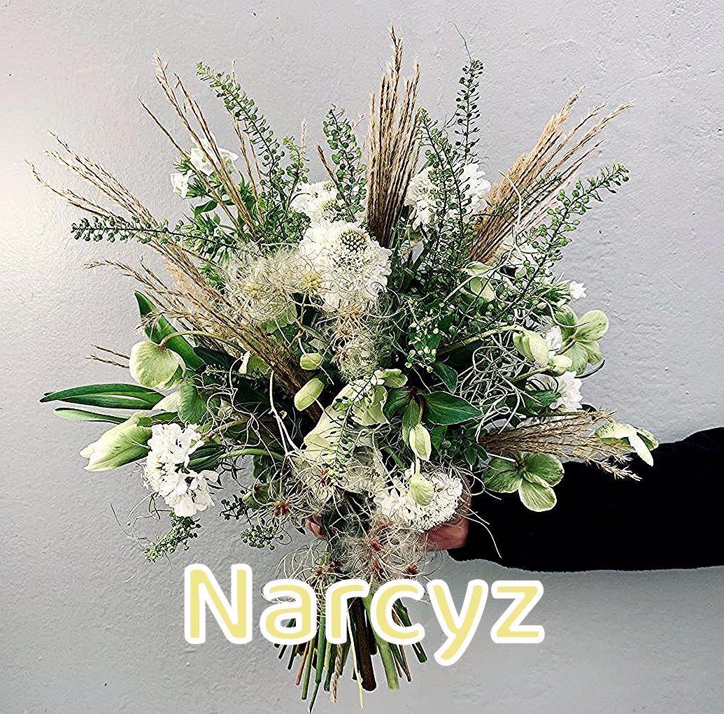 """NARCYZ pracownia florystyczna on Instagram: """"Dzień dobry, na dzisiaj delikatne białe kwiaty z jesiennymi trawami i powojnikami #whiteflowers #bialekwiaty #kwiaty #driakiew #scabiosa…"""""""