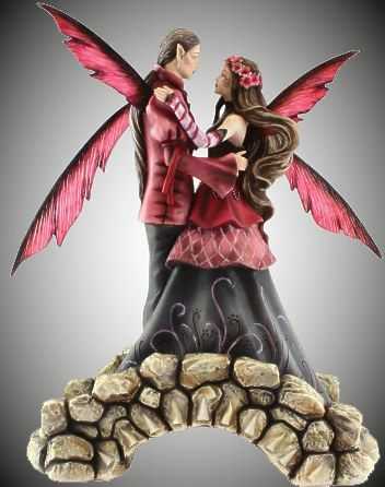 """Love Springs Eternal ""  Fairy Statue  By Jessica Galbreth (Robin)    Makes a fabulous wedding cake topper!  Approx 6.5"" h. Order# NT147-178-TDS  Open Edition.         $39.99"