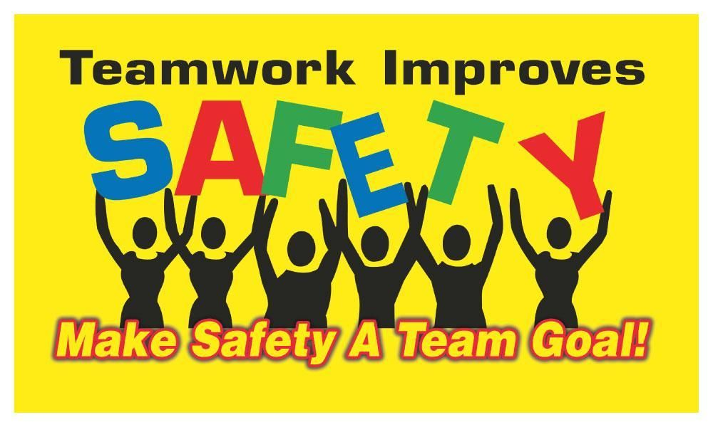 Safety Comes First Arrive Safe Work Safe Go Home Safe Yl Stripes Safety Banner Safety Safety Posters Occupational Health And Safety