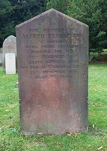 Grave of Alfred Ernest Ind, VC.